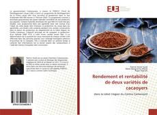 Capa do livro de Rendement et rentabilité de deux variétés de cacaoyers