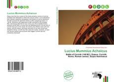 Обложка Lucius Mummius Achaicus