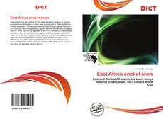 Bookcover of East Africa cricket team