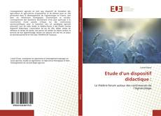 Bookcover of Etude d'un dispositif didactique :