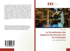 Buchcover von La formalisation des exigences de sécurité avec les ontologies