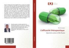 L'efficacité thérapeutique kitap kapağı