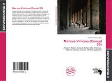 Buchcover von Marcus Vinicius (Consul 30)