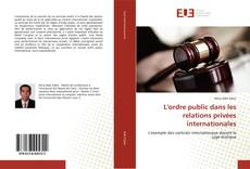 Capa do livro de L'ordre public dans les relations privées internationales