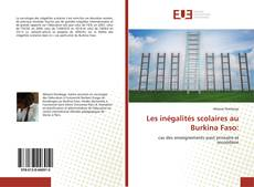 Couverture de Les inégalités scolaires au Burkina Faso: