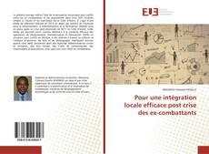 Bookcover of Pour une intégration locale efficace post crise des ex-combattants