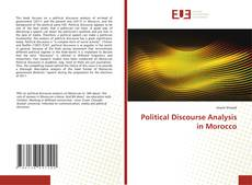 Buchcover von Political Discourse Analysis in Morocco
