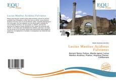 Lucius Manlius Acidinus Fulvianus的封面