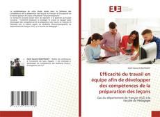 Bookcover of Efficacité du travail en équipe afin de développer des compétences de la préparation des leçons