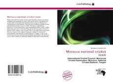 Bookcover of Morocco national cricket team