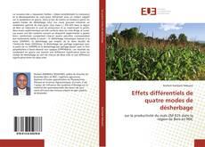 Buchcover von Effets différentiels de quatre modes de désherbage
