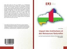 Capa do livro de Impact des Institutions et des Ressources Naturelles