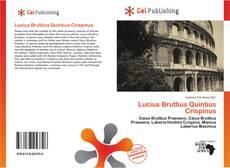 Bookcover of Lucius Bruttius Quintius Crispinus