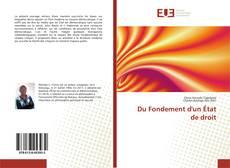 Bookcover of Du Fondement d'un État de droit