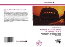 Capa do livro de Gnaeus Manlius Vulso (Consul 474 BC)