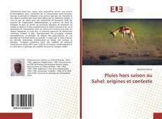 Portada del libro de Pluies hors saison au Sahel: origines et contexte