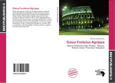 Buchcover von Gaius Fonteius Agrippa