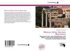 Bookcover of Marcus Julius Gessius Marcianus