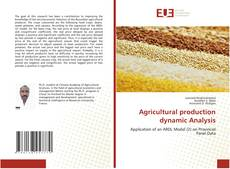 Agricultural production dynamic Analysis kitap kapağı