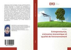 Capa do livro de Entrepreneuriat, croissance économique et qualité de l'environnement