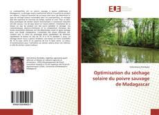 Portada del libro de Optimisation du séchage solaire du poivre sauvage de Madagascar