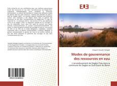 Buchcover von Modes de gouvernance des ressources en eau