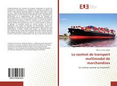 Capa do livro de Le contrat de transport multimodal de marchandises