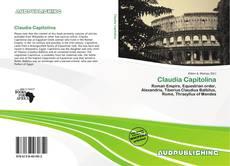 Portada del libro de Claudia Capitolina