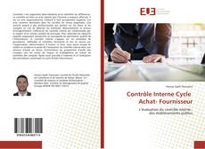 Bookcover of Contrôle Interne Cycle Achat- Fournisseur