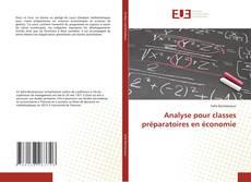 Capa do livro de Analyse pour classes préparatoires en économie