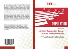 Capa do livro de Africa's Population Boom: Disaster or Opportunity?