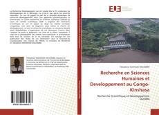 Capa do livro de Recherche en Sciences Humaines et Developpement au Congo- Kinshasa
