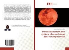 Couverture de Dimensionnement d'un système photovoltaïque pour le campus social