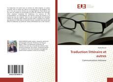 Buchcover von Traduction littéraire et autres