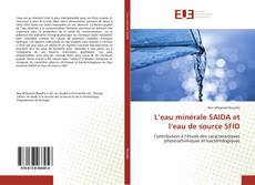 Buchcover von L'eau minérale SAIDA et l'eau de source SFID