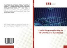 Bookcover of Etude des caractéristiques vibratoires des nanotubes
