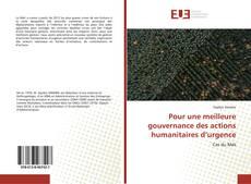 Bookcover of Pour une meilleure gouvernance des actions humanitaires d'urgence