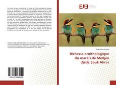 Bookcover of Richesse ornithologique du marais de Medjen djedj. Souk Ahras