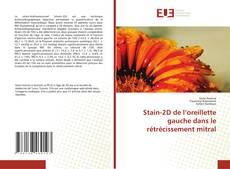 Bookcover of Stain-2D de l'oreillette gauche dans le rétrécissement mitral