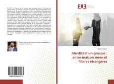 Bookcover of Identité d'un groupe : entre maison mère et filiales étrangères