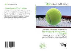 Bookcover of 1999 Betty Barclay Cup – Singles