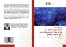 La sociologie de la connaissance à l'aune du programme fort kitap kapağı