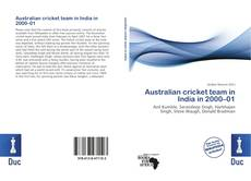 Capa do livro de Australian cricket team in India in 2000–01