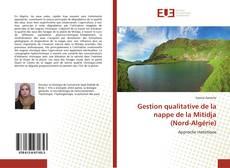 Portada del libro de Gestion qualitative de la nappe de la Mitidja (Nord-Algérie)