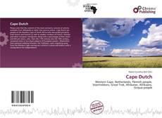 Borítókép a  Cape Dutch - hoz