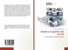 Capa do livro de Étude sur la gestion des vaccins