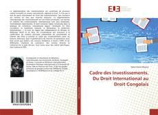 Capa do livro de Cadre des Investissements. Du Droit International au Droit Congolais