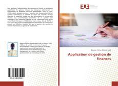 Couverture de Application de gestion de finances