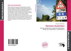 Bookcover of German Australian