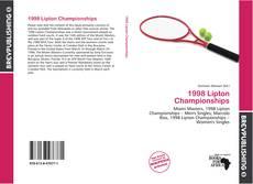 1998 Lipton Championships kitap kapağı